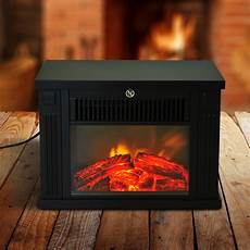 homcom 14 quot 1000w free standing electric fireplace black