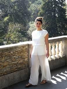 Pantalon Large En Voile De Et Viscose Blanc