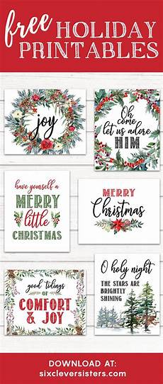 6 free printable christmas signs six clever