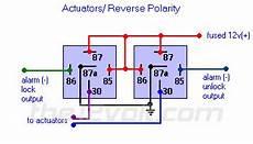 door locks actuators polarity negative switch trigger type d a relay wiring