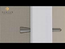 Fliegengitter Im Rahmen - animation insektenschutz spannrahmen montage mit