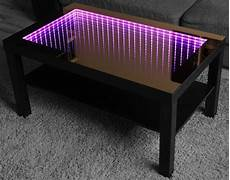 infinity mirror led tisch table