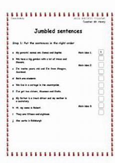 jumbled sentences worksheets