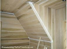 Example of shiplap installed on angled walls   Shiplap