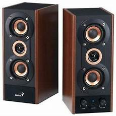 New Genius 3 Way Hi Fi Wood Speakers For Pc Mp3 Players