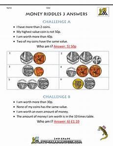 money riddle worksheets 2303 money worksheets for money riddles uk