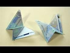 geld falten geld falten schmetterling einfaches geldgeschenk