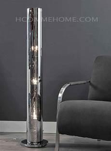 Ladaire Colonne Design En Verre Et Nickel Chrom 233