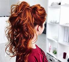 curly high ponytail with slight hair bump high ponytails pinterest hair bumps