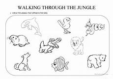 jungle animals worksheets for preschool 13917 walking through the jungle worksheet free esl printable worksheets made by teachers