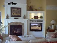 Ideas Next To Fireplace by Tv Next To Fireplace Now There S A Fireplace And