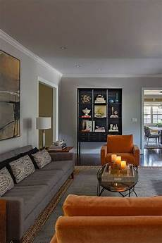 room redo get the look modern ranch style living room in 2019 living room orange