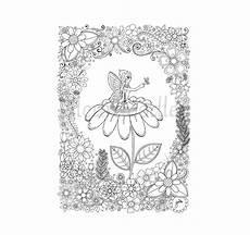 Ausmalbilder Blumen A4 Malseite Zum Ausdrucken Elfe Fee Schmetterling Blumen