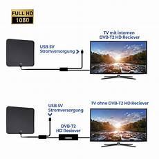 1080p Verst 228 Rker Dvb T T2 Antenne Flachantenne Usb