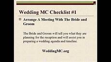 Wedding Mc Ideas wedding mc wedding mc checklist