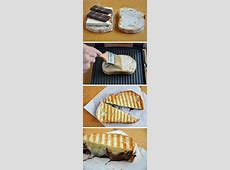panini with chocolate and brie image