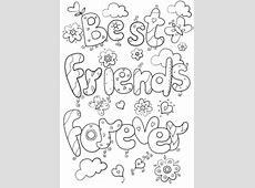Dibujo de Mejores amigos para siempre para colorear