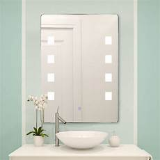 led lighted bathroom mirror wall aluminum make up touch button horizontal ebay