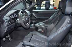 bmw m2 with m performance parts interior at 2016 geneva motor show