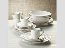 Marin White 20 Piece Dinnerware Set   Reviews   Crate and