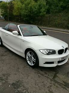 bmw 118i m sport convertible in white 54k fsh leather
