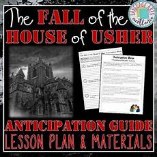 fall of the house of usher lesson plans the fall of the house of usher anticipation guide and