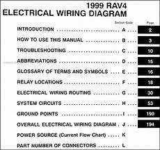1999 toyota rav4 wiring diagram manual original
