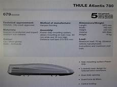 thule atlantis 780 thule atlantis 780 480 litres car roof box dual side