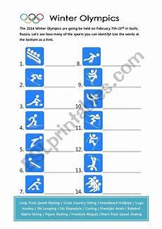winter olympics esl worksheets 19995 2014 winter olympics sports esl worksheet by sdoehler