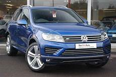 reef blue metallic volkswagen touareg mk2 5 dr car
