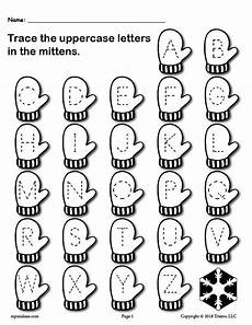 printable winter themed uppercase and lowercase alphabet letter tracin supplyme