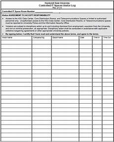 13 free sle visitor log templates printable sles