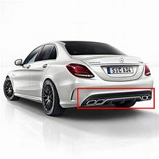 mercedes w205 c63 amg rear diffuser kit