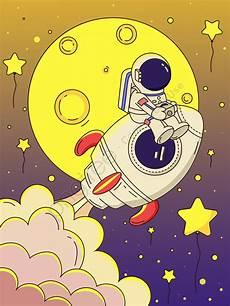 Wow 30 Gambar Roket Astronot Kartun Gambar Kartun