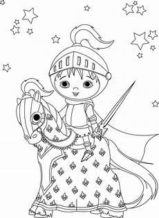 Ausmalbild Ritter Prinzessin Ausmalbild Prinzessin Edler Ritter Auf Seinem Pferd