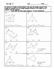 proving triangles congruent quiz or worksheet by the square root