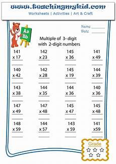 math worksheet multiply multiple of 3 digits with 2 digits 3