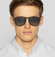 lunette persol steve mcqueen persol steve mcqueen folding acetate sunglasses in black