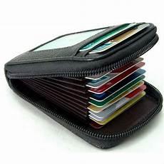 dompet kulit travel dengan banyak slot untuk penyimpanan berbagai koleksi kartu anda