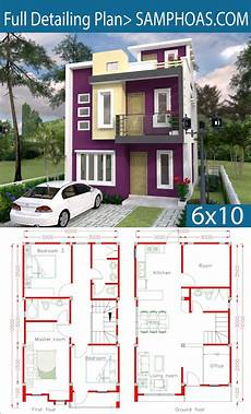 sketchup house plan sketchup home design plan 6x10m with 4 rooms home design