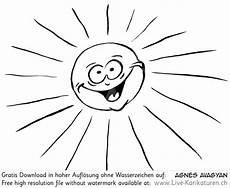 sonne comic schwarz weiß sonne strahlen smile agnes live karikaturen