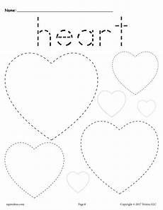 hearts tracing worksheet tracing shapes worksheets supplyme