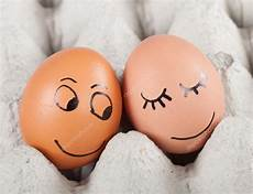Two Smiling Eggs In A Packet Stock Photo
