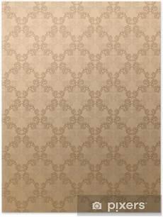 Poster Barock Braun Hintergrund Edel Luxus Gutschein