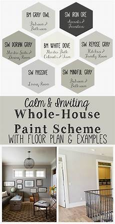 calm and inviting whole house paint scheme paint colors for home house color schemes house
