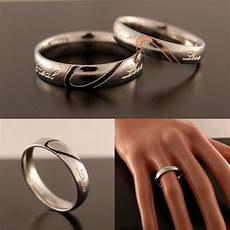 new silver plated womens wedding ring mens band half love heart size h to z 5 ebay