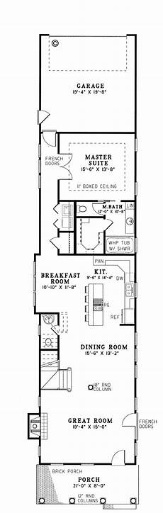 house plans for long narrow lots southern style house plan 61061 with 3 bed 3 bath 2 car