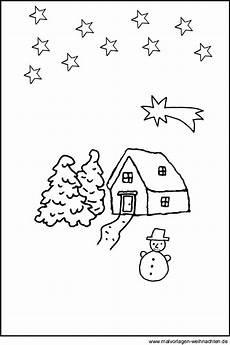 Ausmalbilder Weihnachten Haus Landschaft Im Winter Gratis Weihnachtsbilder Als Malvorlagen