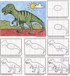 Malvorlagen Dinosaurier T Rex Easy Draw A T Rex Dinosaur Projects Drawing Lessons