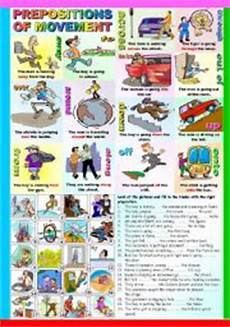 english worksheets prepositions of movement b w version and key included